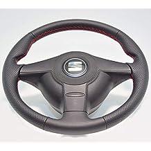 Volante tapizado deportivo Seat Leon I 1M (99-05) cuero-piel natural
