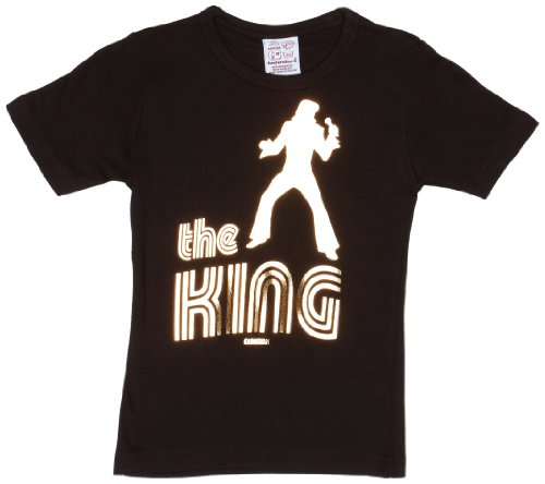 Perücke Kind Elvis (Logoshirt Jungen Logo T-Shirt, Gr. 140 (Brand size : 10-11 years),)