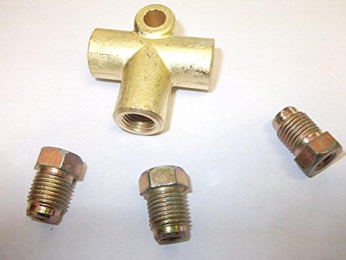 3-Wege-Bremsrohrverbinder mit 3 x 10 mm x 1 mm Enden