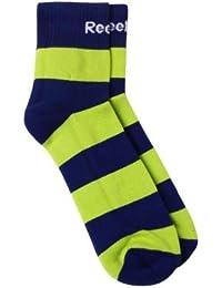Reebok Mens Ankle Stripe Socks Green