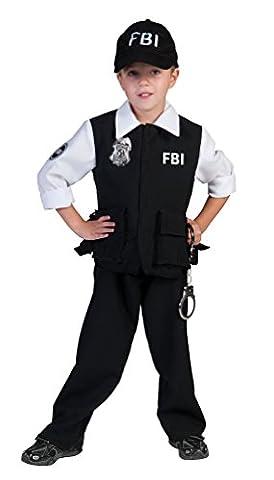 ,Karneval Klamotten' Kostüm FBI Agent Kostüm Junge Karneval Polizei Jungenkostüm Größe 140 (Fbi-kostüm Für Jungen)