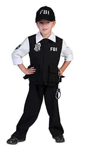 FBI Agent Kostüm Polizist für Jungen Gr. - Fbi Agent Kostüm Weste