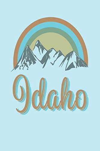 Idaho: Blank lined retro journal