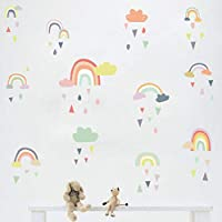 Colorful Rain Rainbows Wall Decal, Raindrop Wall Sticker, Rainbow Wall Sticker for Kids Room Decor, DIY Mural Art Home Decoration