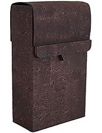 e7d142a44c Portasigarette marrone realizzato in pelle di sughero naturale, magnetico,  per 20 sigarette, lunghezza