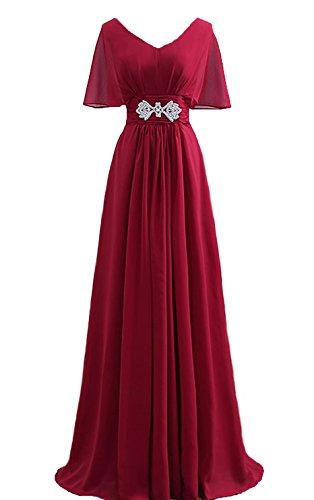 Bridal_Mall - Robe de mariage - Trapèze - Sans Manche - Femme Rouge