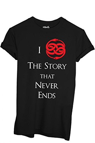MUSH T-Shirt Love Auryn Never Ending Story - Film by Dress Your Style - Herren-L Schwarz