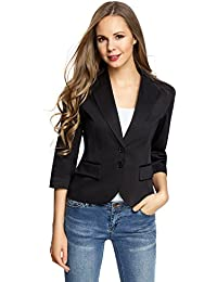 oodji Collection Damen Blazer mit 3/4-Arm