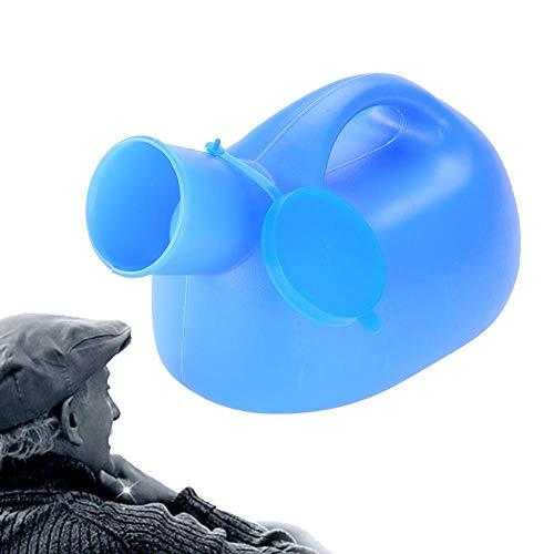 TMISHION Urinflasche für Männer,Auslaufsichere Urinflasche 2000ml Tragbare Außenmessing Urinalflasche mit Deckel Männlicher Urin Urinal Urin Urinbehälter, Kinder oder Langstreckenbusfahrer