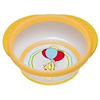 NUK 10255153 Disney Easy Learning Esslern-Schale mit Deckel, Anti-Rutsch-Griffe, rutschfester Boden, BPA-frei, gelb