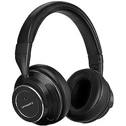 Auriculares Inalámbricos Cascos Bluetooth,LinkWitz Diadema con Cancelación Activa del Ruido Incorporado Micro con Sonido Estéreo para Teléfonos/ PC /TV de Acero Mejorado(Negro)