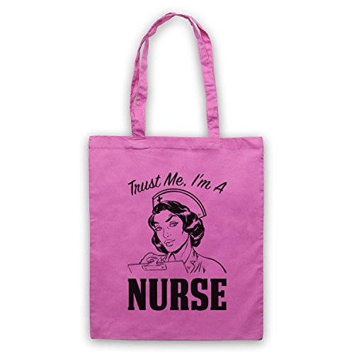 Trust Me I'm A Nurse Funny Work Slogan Umhangetaschen Rosa