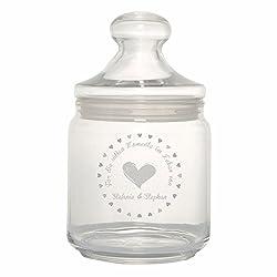 4you Design Bonbonglas/Keksglas Für die süßen Momente im Leben von ... - personalisiert mit 1-2 Namen - süße Geschenkidee Geburtstagsgeschenk - originell - individuell