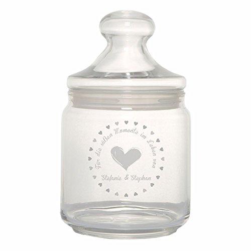 """Bonbonglas / Keksglas """"Für die süßen Momente im Leben von …"""" – personalisiert mit 1-2 Namen – süße Geschenkidee – Weihnachtsgeschenk – Geburtstagsgeschenk – originell –"""