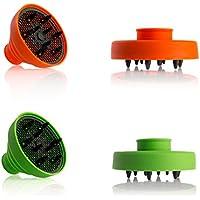DIFFUSORE universale PIGHEVOLE in silicone da viaggio per phon asciugacapelli