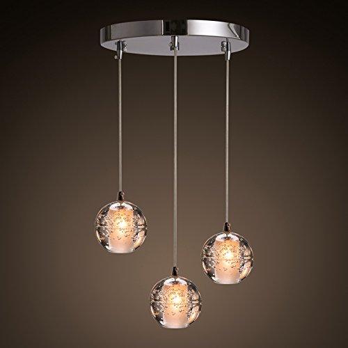 BBSLT Personalità Creative Meteor doccia bubble Palla di vetro lampadario moderno minimalista sfera di cristallo linea lampadina led 320*2000mm - 2000 Karaoke