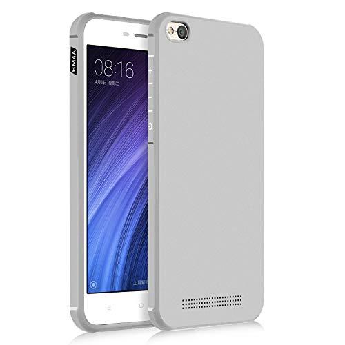 Ycloud Silikon TPU Schutzhülle für Xiaomi Redmi 4A Geschäft Einfach Verdicken Hülle Stoßfest Anti-rutsch Back Cover Grau Tasche für Xiaomi Redmi 4A
