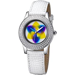 Rainbow e-motion of color Women's Quartz Watch EL47A-WL-tr with Leather Strap