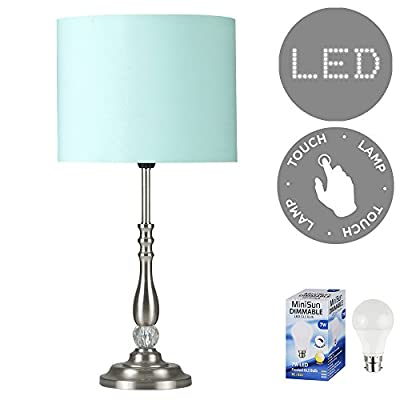 Duckegg Blue Touch Table Lamp Complete With  Bulb (Choice Of Colour)