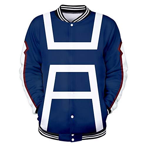 WTZFHF 3D Pullover Sport Farbe Baseball Uniform Jacke, Cosplay Straße Pullover Mein Held Academia Frühling Und Herbst Mode Unisex