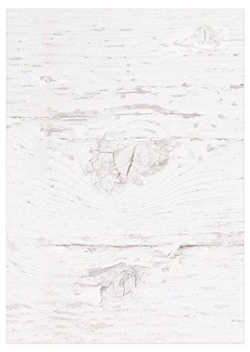 50 Blatt Briefpapier Druckerpapier blanko alt WEISS HOLZ-Optik beidseitig bedruckt 100g Schreibpapier Motiv-Papier DIN A4 Brief-Bogen altweis rustikal shabby vintage Papier
