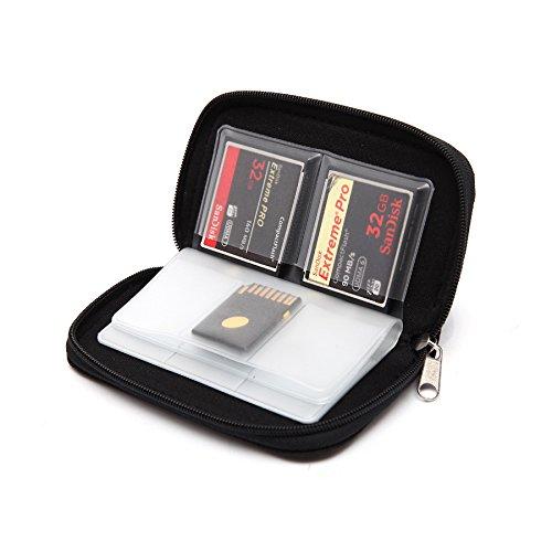 Estuche para guardar tarjetas de memoria SD (capacidad para 22 tarjetas)