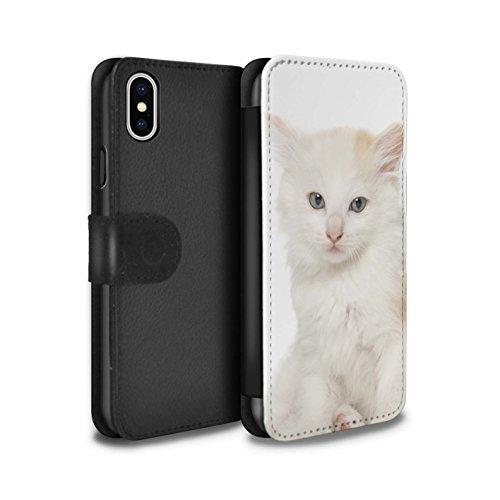 Stuff4 Coque/Etui/Housse Cuir PU Case/Cover pour Apple iPhone 5/5S / Siamois Design / Espèces de chats Collection Kurillian