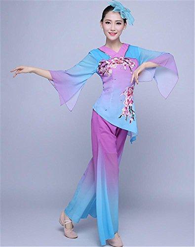 Damen Chinesisch klassische Volkstanz Performance Kostüm / Fan Tanz Ballett / Bühnenshow , s