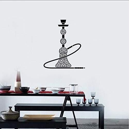 Ganjue Narguilé Vinyle Sticker Shisha Bar Fumoir Arabe Style Autocollants Intérieurs Mural Amovible Vitrine Vitres 56X65cm