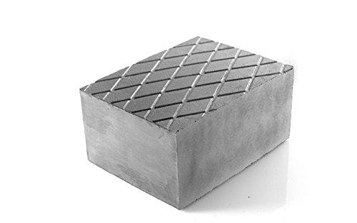 Bloc en caoutchouc/Bloc en caoutchouc pour pont élévateur Cric Cric fosse Pelle 16 x 12 x 8 cm