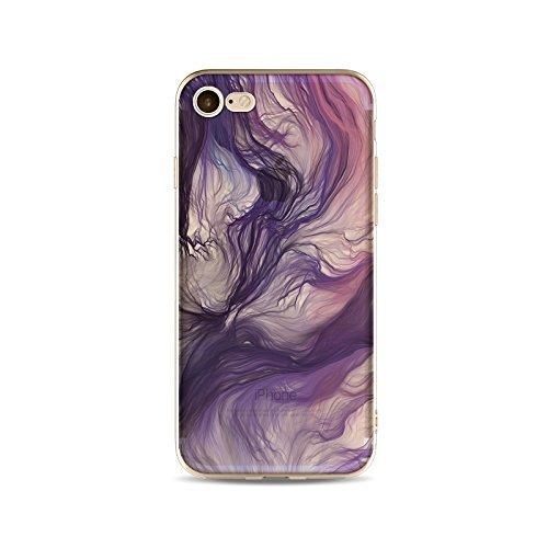 Coque iPhone 5 5s Housse étui-Case Transparent Liquid Crystal Gouache Art en TPU Silicone Clair,Protection Ultra Mince Premium,Coque Prime pour iPhone 5 5s-style 7 6