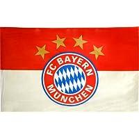 FC Bayern München - Bandiera FC Bayern München con logo, in poliestere, 100 x 150 cm