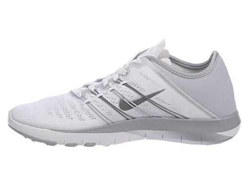 Nike Damen Wmns Free TR 6 Gymnastikschuhe White/Metallic Silver-Wolf Grey