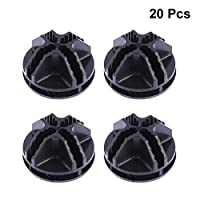 OUNONA 20 Pcs Wire Cube Plastic Connectors for Cube Storage Shelving and Cabinet Modular Organizer Closet Clasp Buckle Clip (Black)