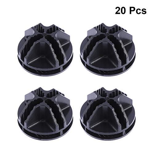 Ounona 20pcs connettori di plastica del cubo del legare per la scaffalatura di immagazzinaggio del cubo e l'armadietto modulare dell'armadio(nero)