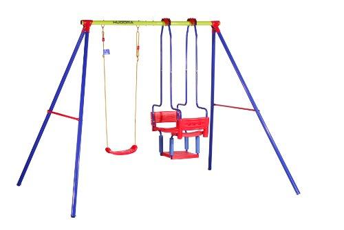 *HUDORA Schaukel-Gestell HD 700, metall mit Kinder-Schaukel & Gondel-Doppelschaukel – 64011*