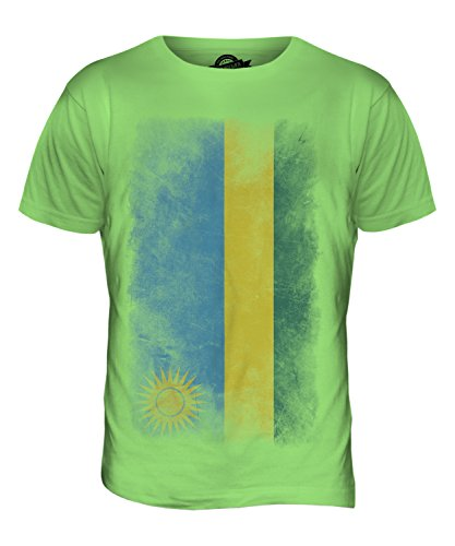 CandyMix Ruanda Verblichen Flagge Herren T Shirt Limettengrün