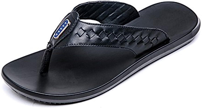 Ruiyue Thong Flip Flops Schuhe  Casual Echtem Leder Strand Hausschuhe Rutschfeste Weiche Flache Sommer IndoorRuiyue Hausschuhe Rutschfeste Outdoor Sandalen