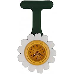 Infection Control Daisy Fun Shape Funky Gel Fob Watch suitable for Nurses, Doctors, Paramedics, it is Unisex so suitable for Men and Women