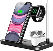Innoo Tech Wireless Charger, 4 in 1 Wireless Charger Station for iPhone 11/11pro/11pro Max/X/XS/XR/Xs Max/8/8