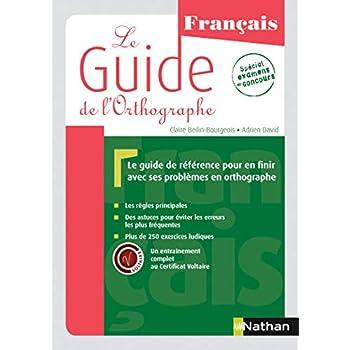 Le Guide de l'orthographe