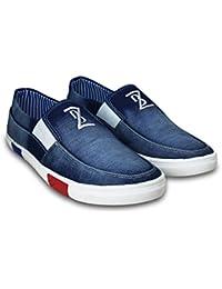 BEONZA Men's Denim Loafers