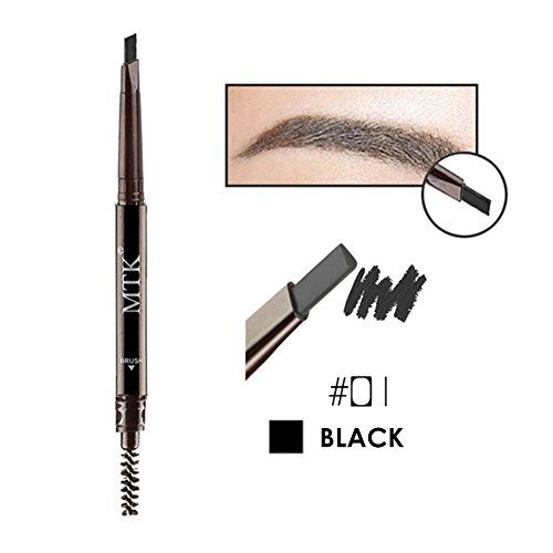 Weisy 4 Couleurs Crayon a Sourcils + Pinceau Double Tete Waterproof Maquillage de L'oeil Beauter Cosmetique