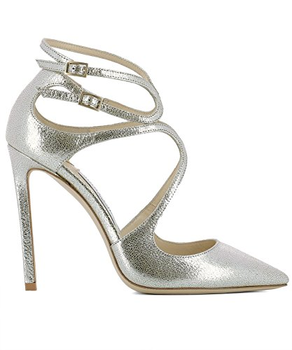 Jimmy-Choo-Womens-LANCER110GLECHAMPAGNE-Silver-Leather-Heels