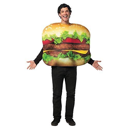 MCS Lustiges Hamburger Herren-Kostüm bunt Einheitsgröße (Hamburger Kostüm)