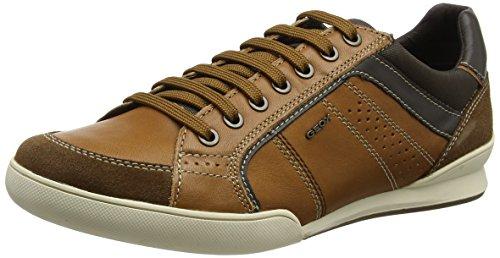 Geox u kristof a scarpe da ginnastica basse uomo, marrone (cognac/browncotto) 44 eu