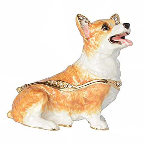 Welsh Corgi Dog Keepsake Box Jewelry Treasured Box for Ring