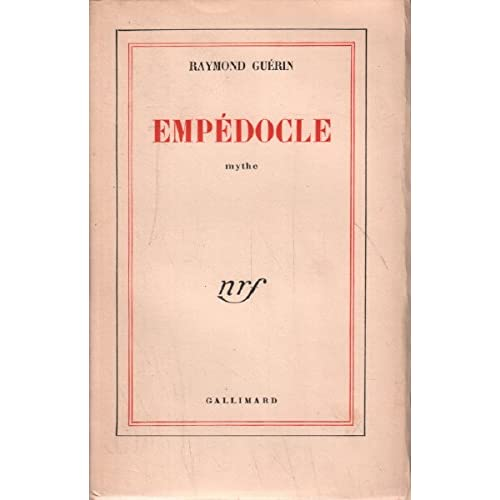 Empédocle - Edition originale
