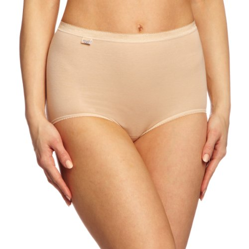Cotton Underwear Pack Womens (Sloggi Damen Miederslip Basic Maxi Combo 3 Pack, Beige, 50 (Herstellergröße : 22))