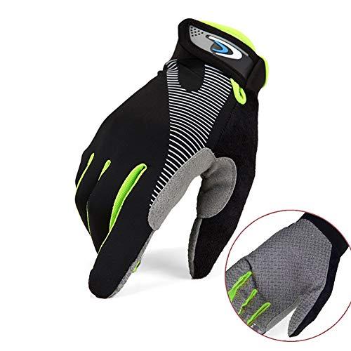 880228 Vollfinger-Motorradhandschuhe | Herren Slip Sommer Sport Handschuhe Outdoor Reiten Bergsteigen Fitness Taktisches Training Motorrad Mountainbike (Farbe : Schwarz, größe : L) (Thermal-taktische)